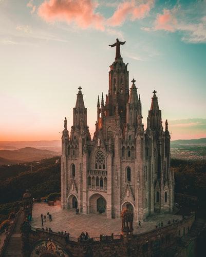 Cathédrale à Barcelone - Espagne