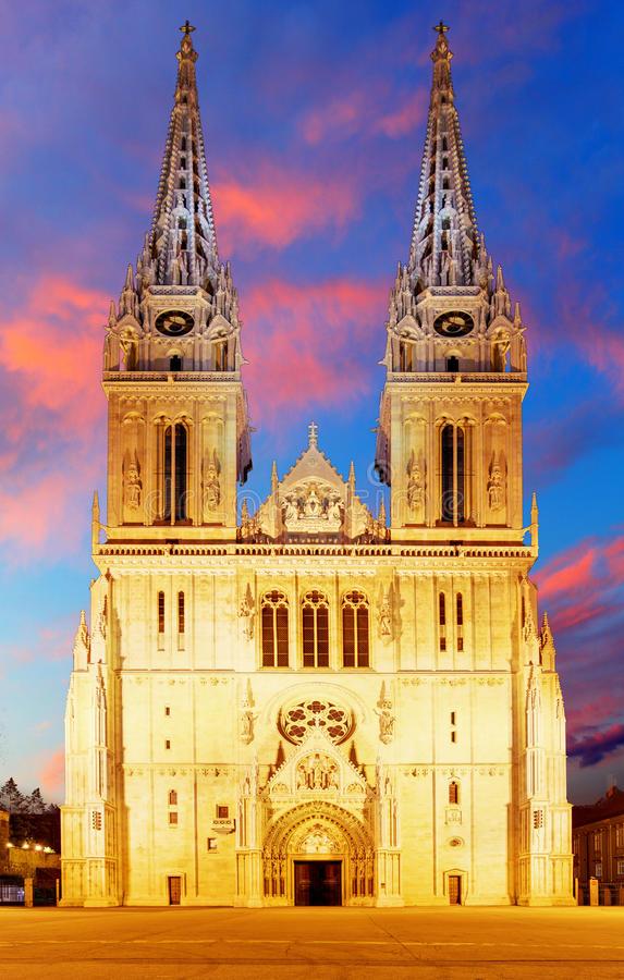 Cathédrale de Zagreb en croatie
