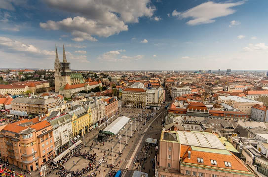 Zagreb vue de haut