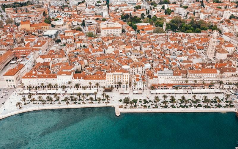 Vue aérienne sur Split