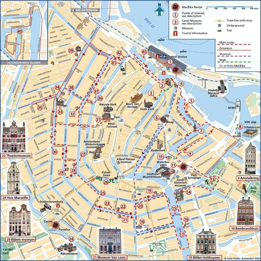 carte touristique Amsterdam