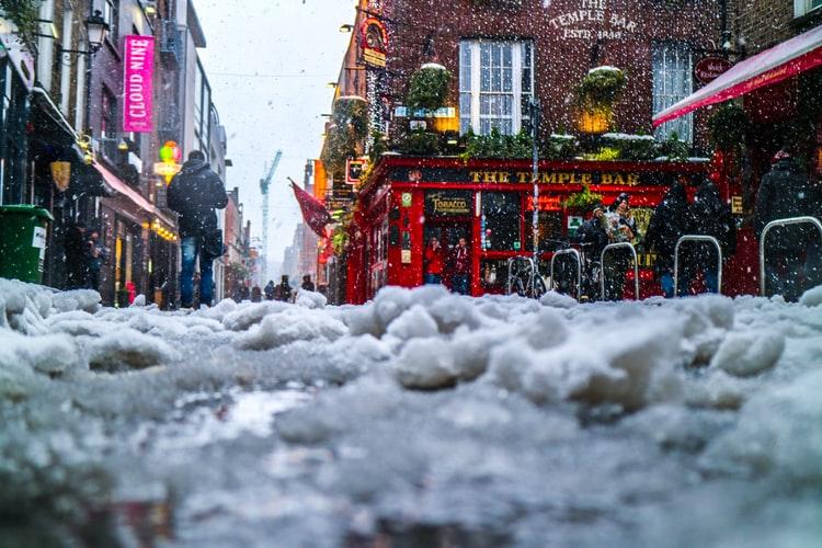 neige dublin irlande
