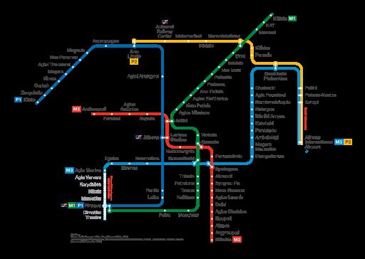 athenes plan metro