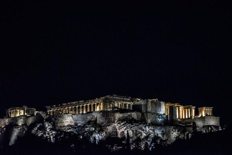 athenes acropole de nuit