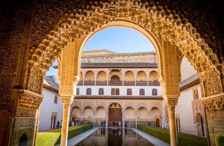 L'Alhambra vue de l'intérieur