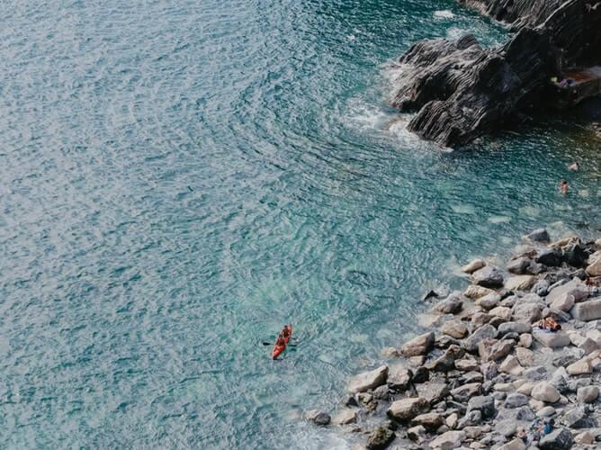 baignade kayak monterosso cinque terre