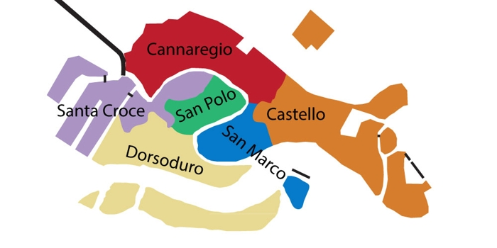 plan touristique venise