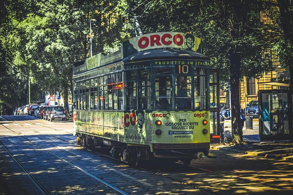 milan tramway ville italie