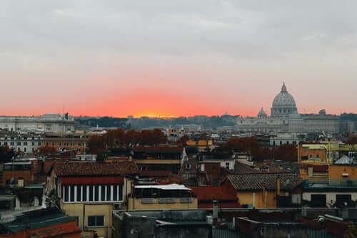 coucher soleil visiter rome autrement