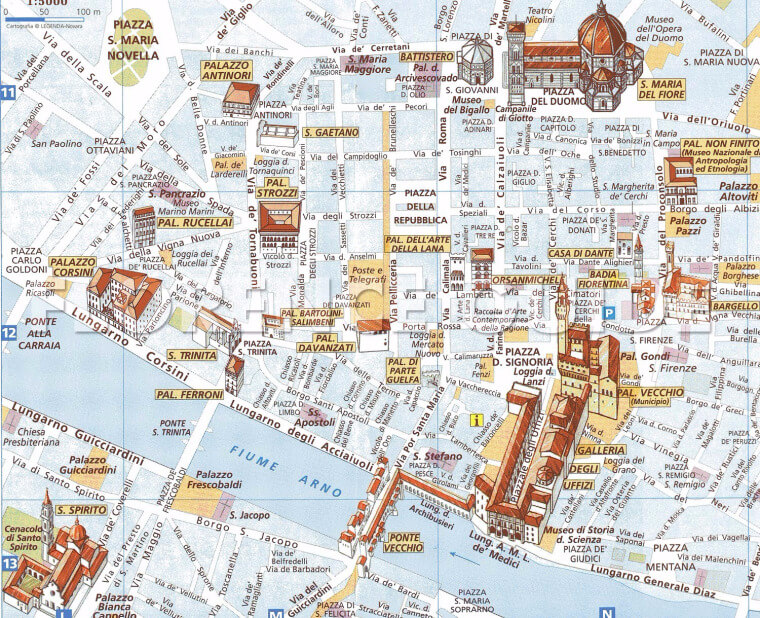 carte monuments historiques florence