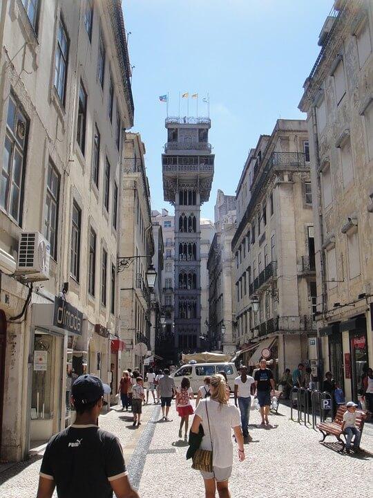 ascenseur santa justa lisbonne portugal