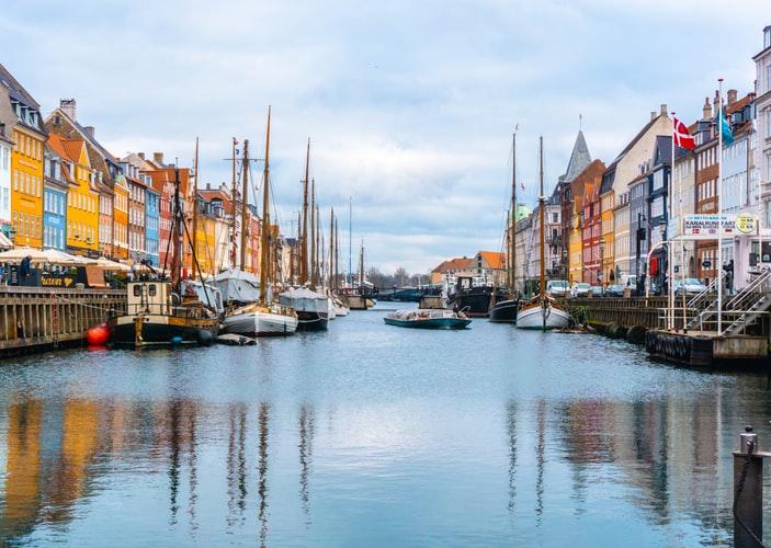 Vue sur le port de Copenhague