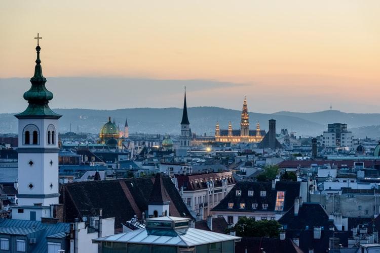 Vue aérienne sur Vienne