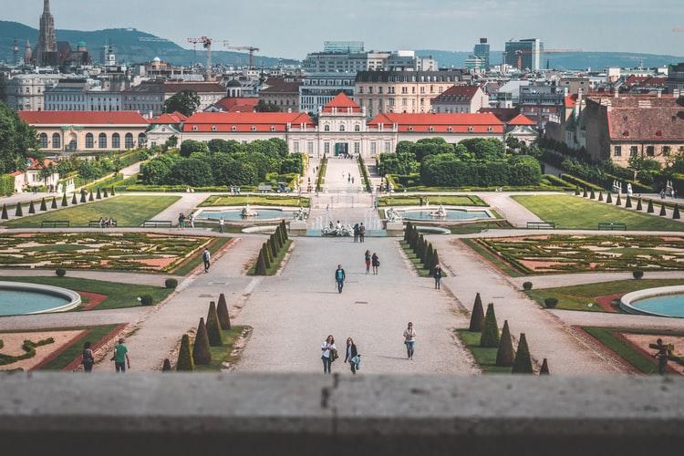 Vue sur le jardin du Château de Schönbrunn