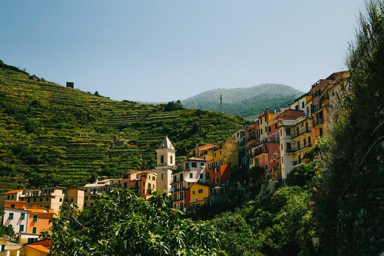 Village des Cinque Terre et vignobles
