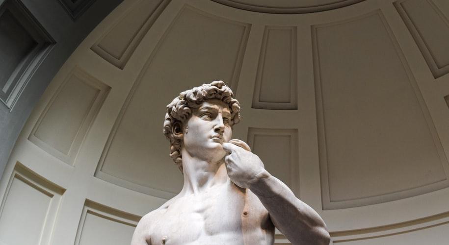 David dans le musée à Florence