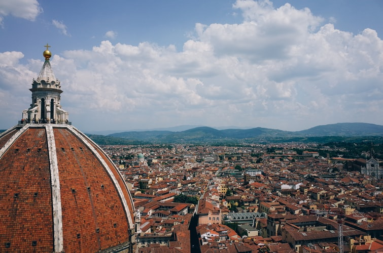 Vue du Dôme sur les toits de Florence