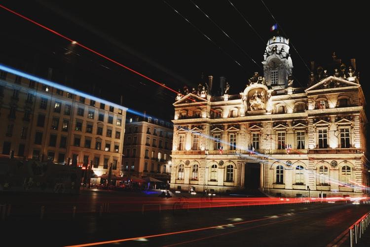 L'hôtel de ville de Lyon sur la place des terreaux