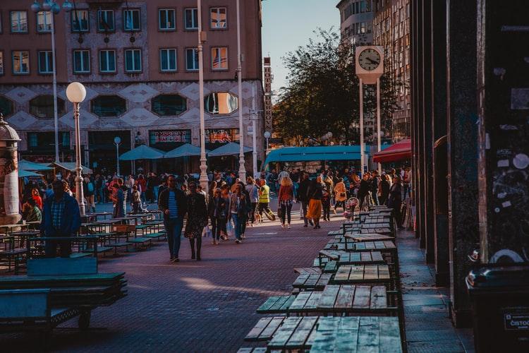 Centre ville de Zagreb