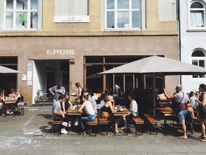 Terrasse à Hambourg