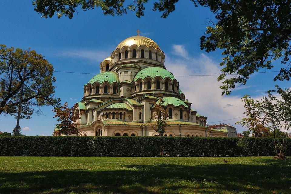 Vue sur la cathédrale de Sofia