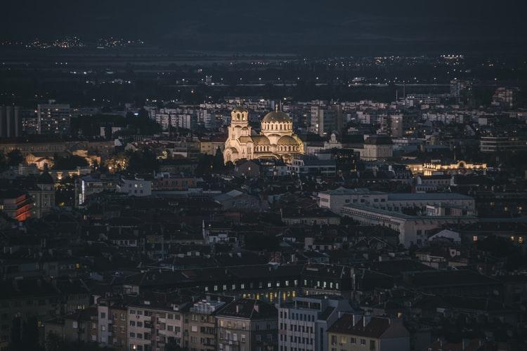 Vue sur la ville et sur la cathédrale