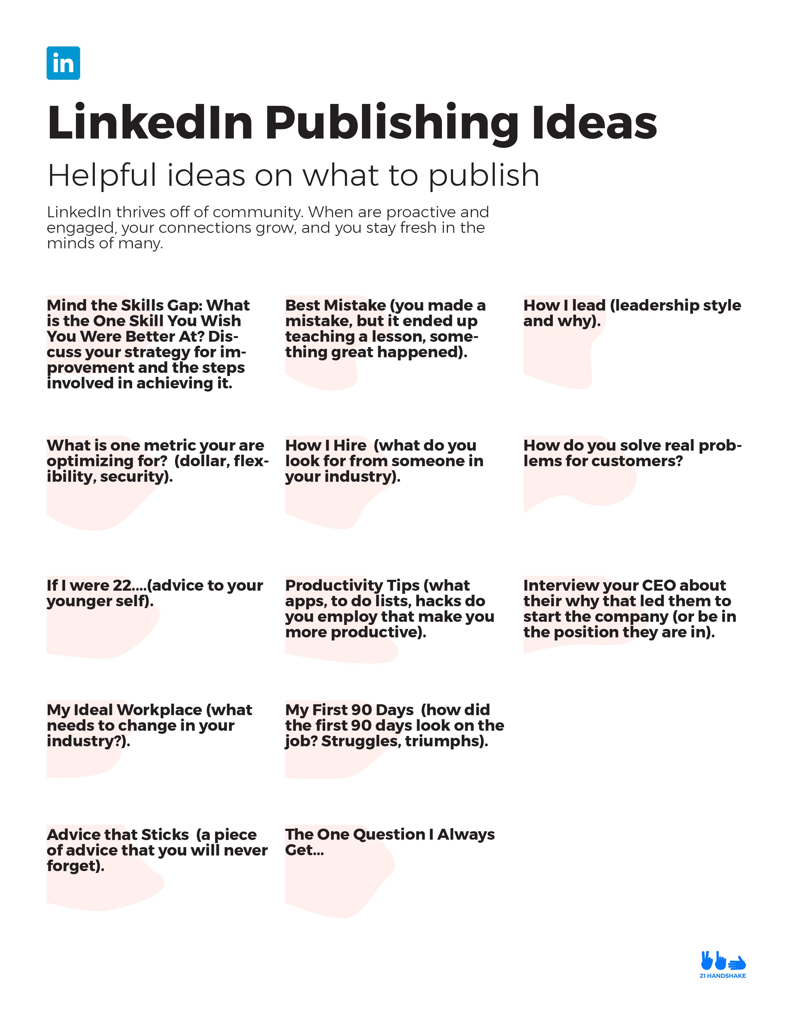 LinkedIn Publication Ideas PDF Resource