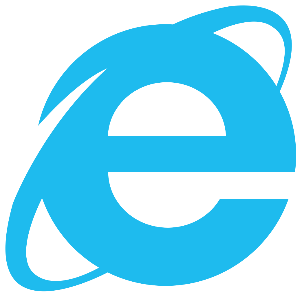 Internet explorer icon. Please don't use IE. It.....isn't good.