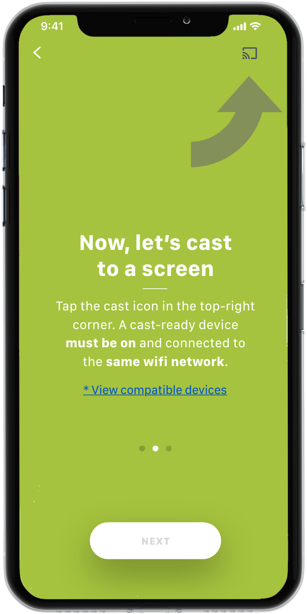 How to cast to any compatible screen