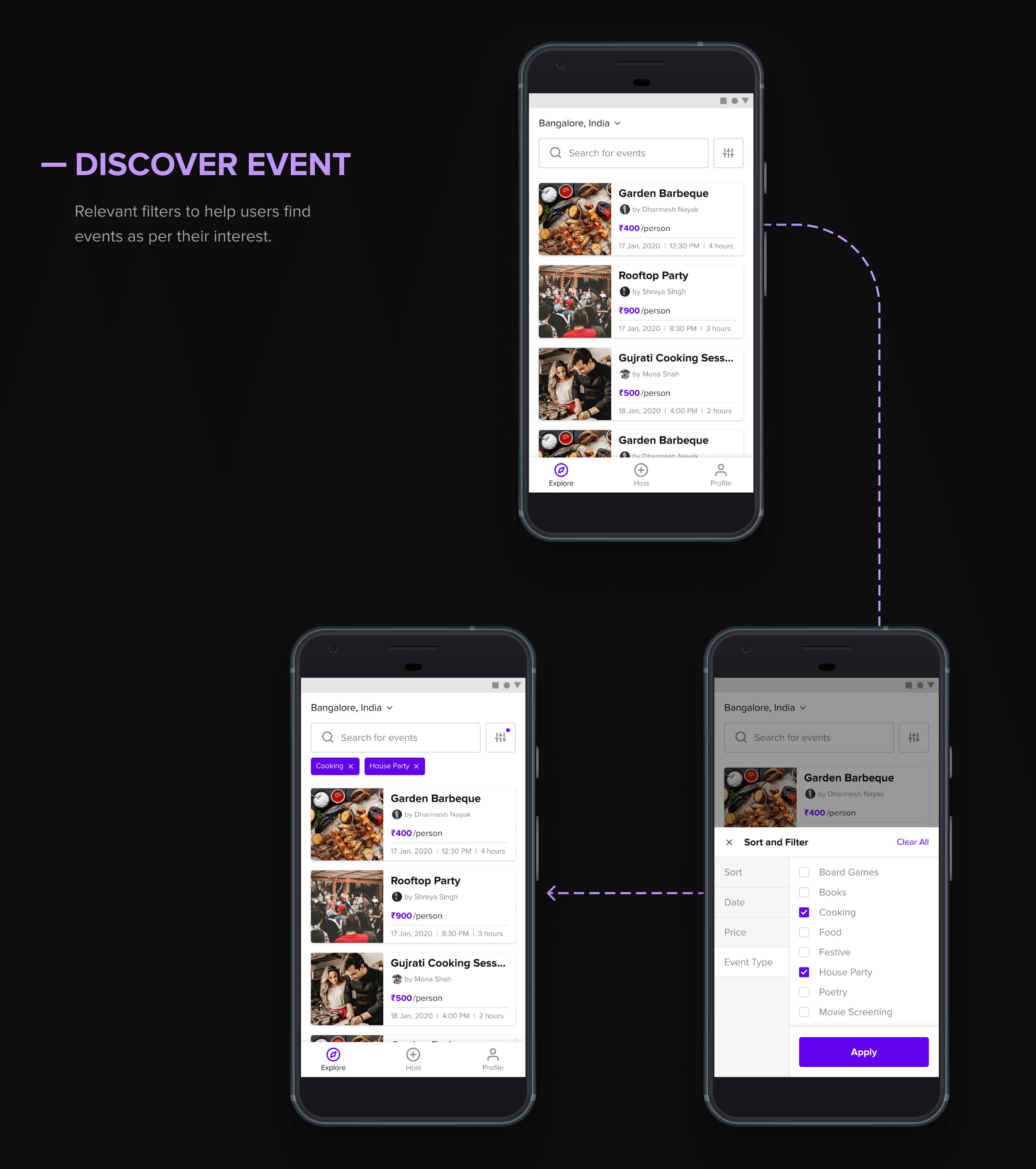 Hola app discover event