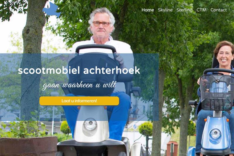 screenshot website scootmobiel achterhoek