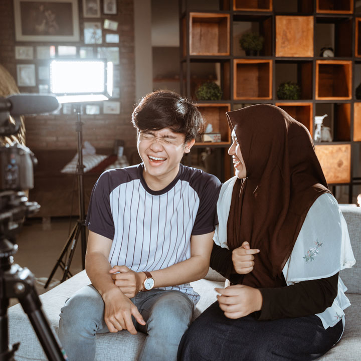 Laughing on camera - Lasser Media