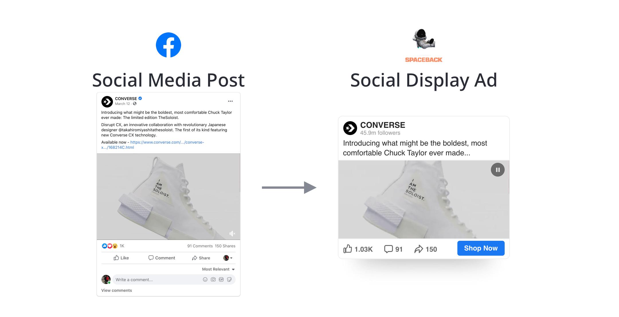 Converse Facebook Spaceback Social Display Ad