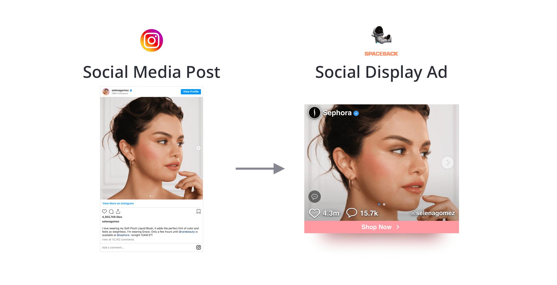 Sephora Instagram Spaceback Social Display Ad
