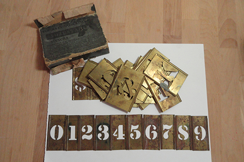 Graphic Design Tools, Eureka Interlocking Adjustable Brass Stencils, date unknown