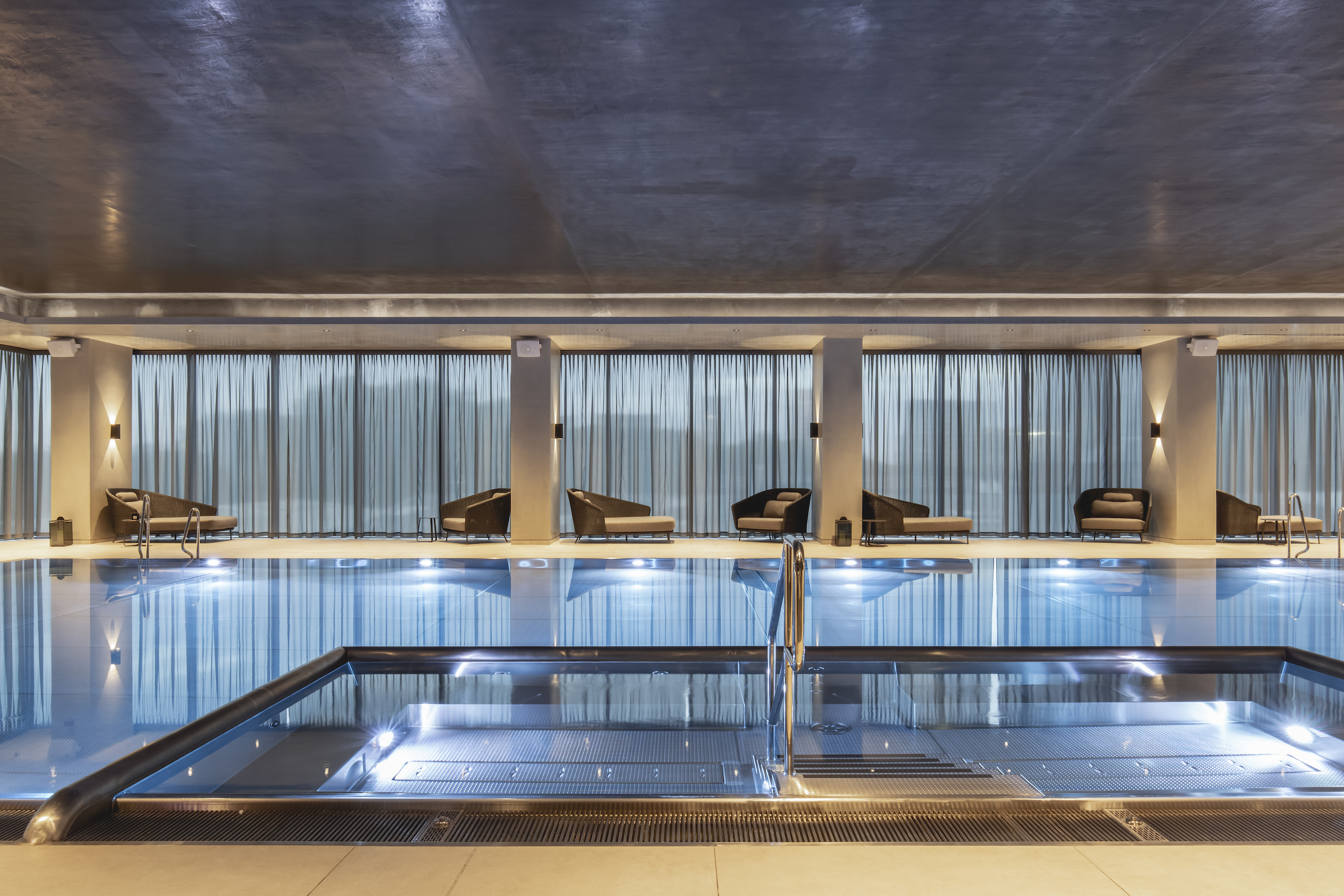 A CGI render of the swimming pool for Deansgate Square