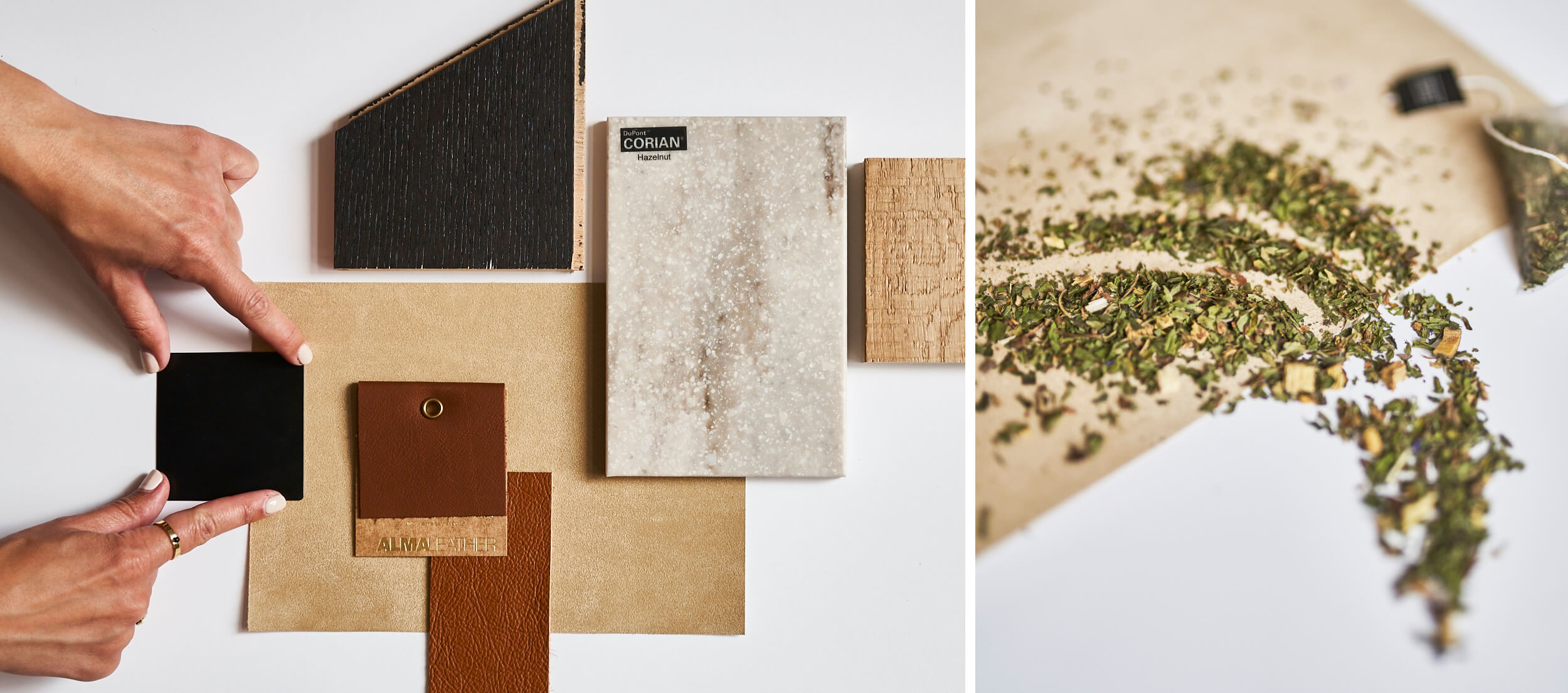 A collection of material swatches