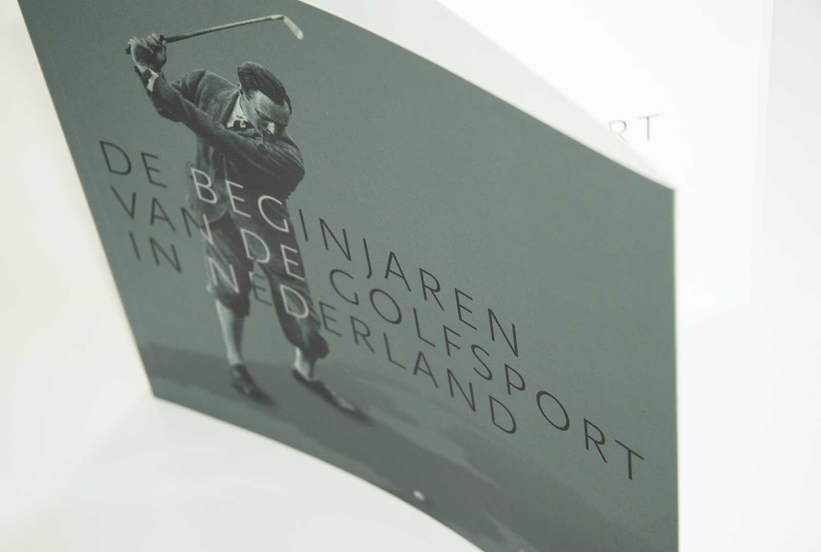 Omslag boek 'De beginjaren van de golfsport in Nederland'