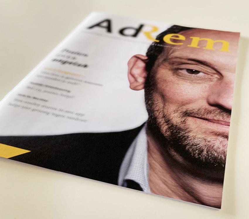 AdRem, tijdschrift van de Remonstranten, cover