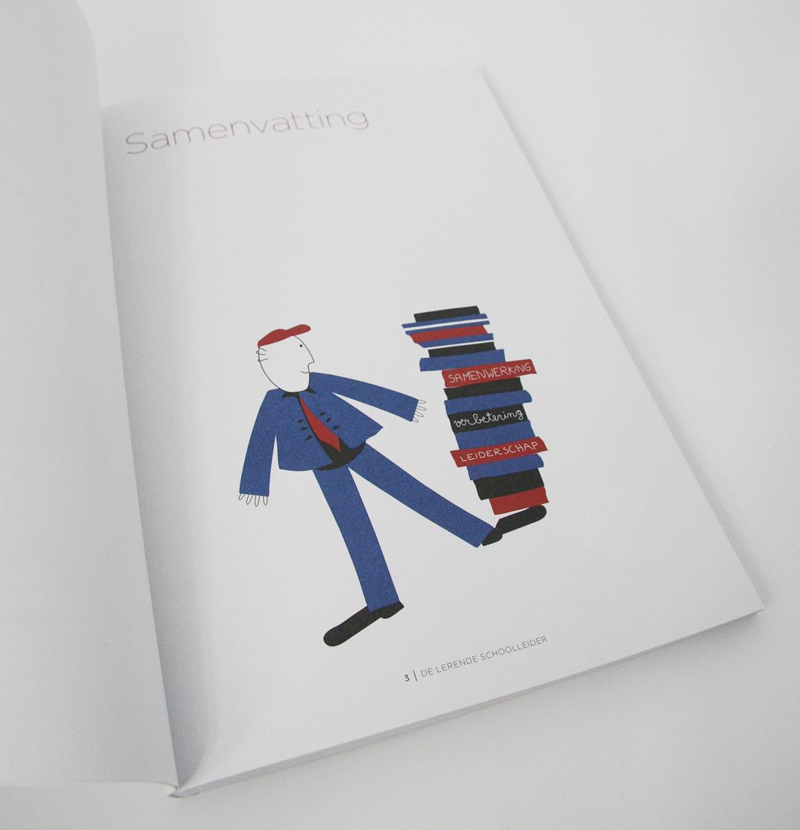 'De Lerende Schoolleider' illustratie bij de samenvatting