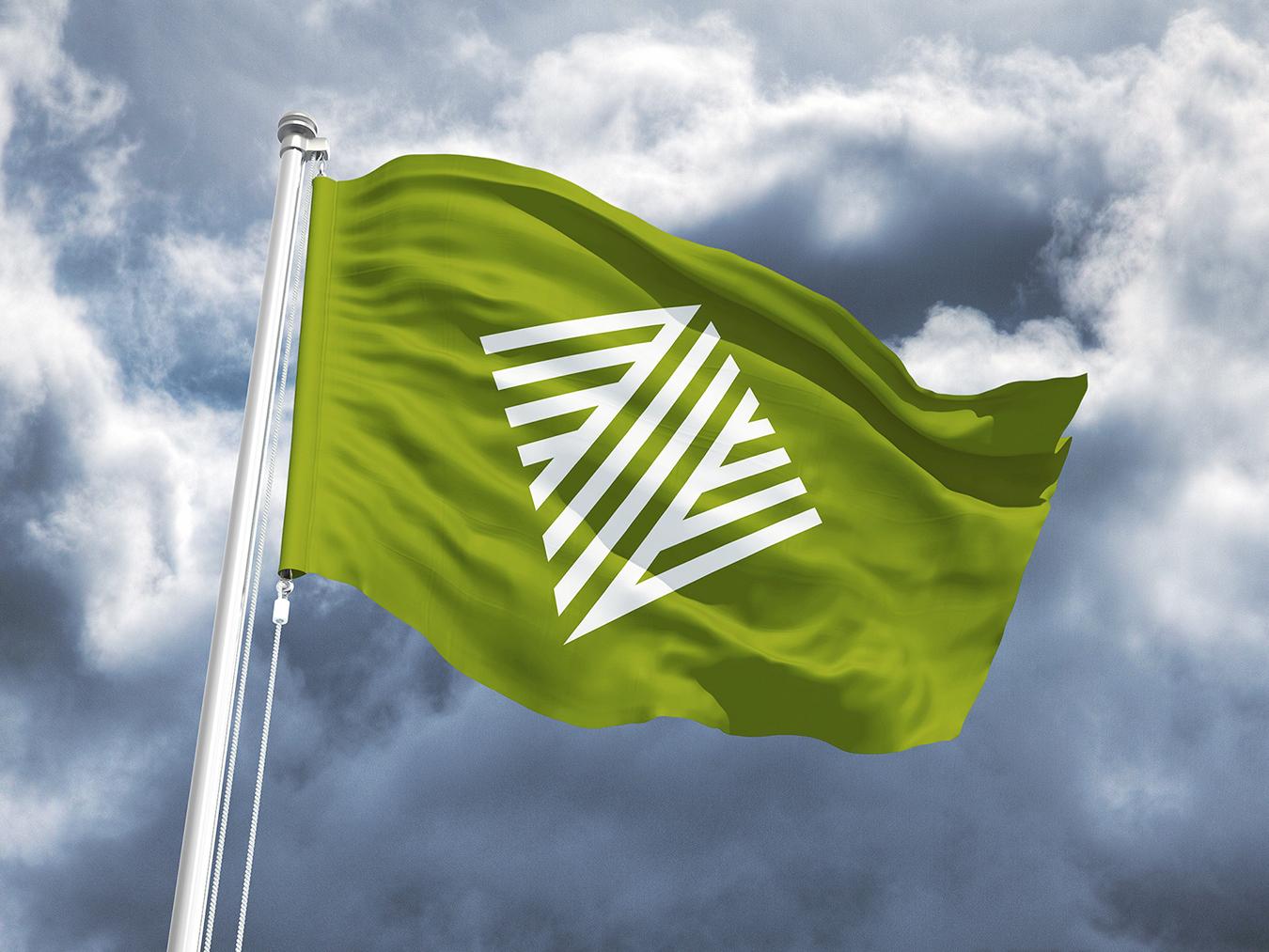 Logo op vlag - ontwerp