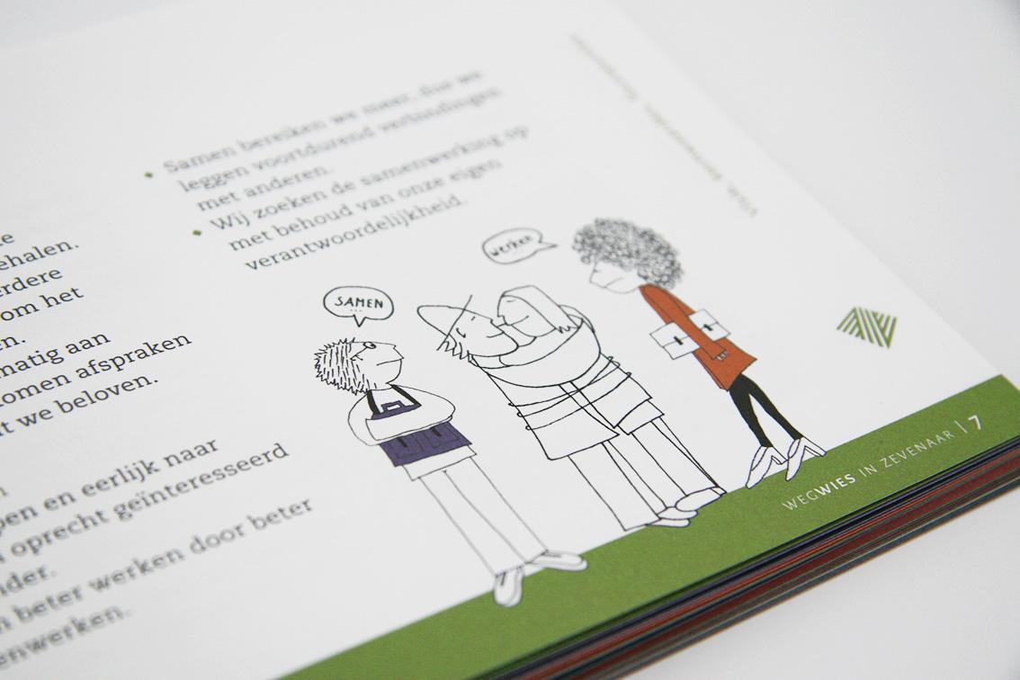 Wegwies - interne publicatie - illustratie