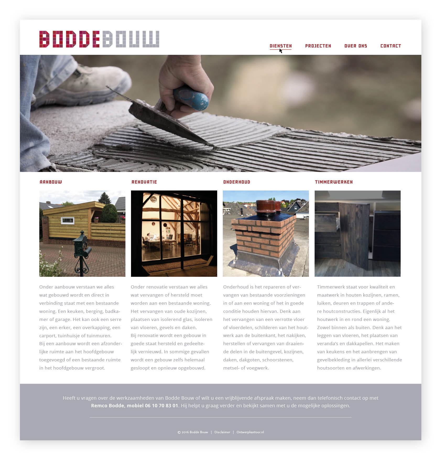 Website Bodde Bouw