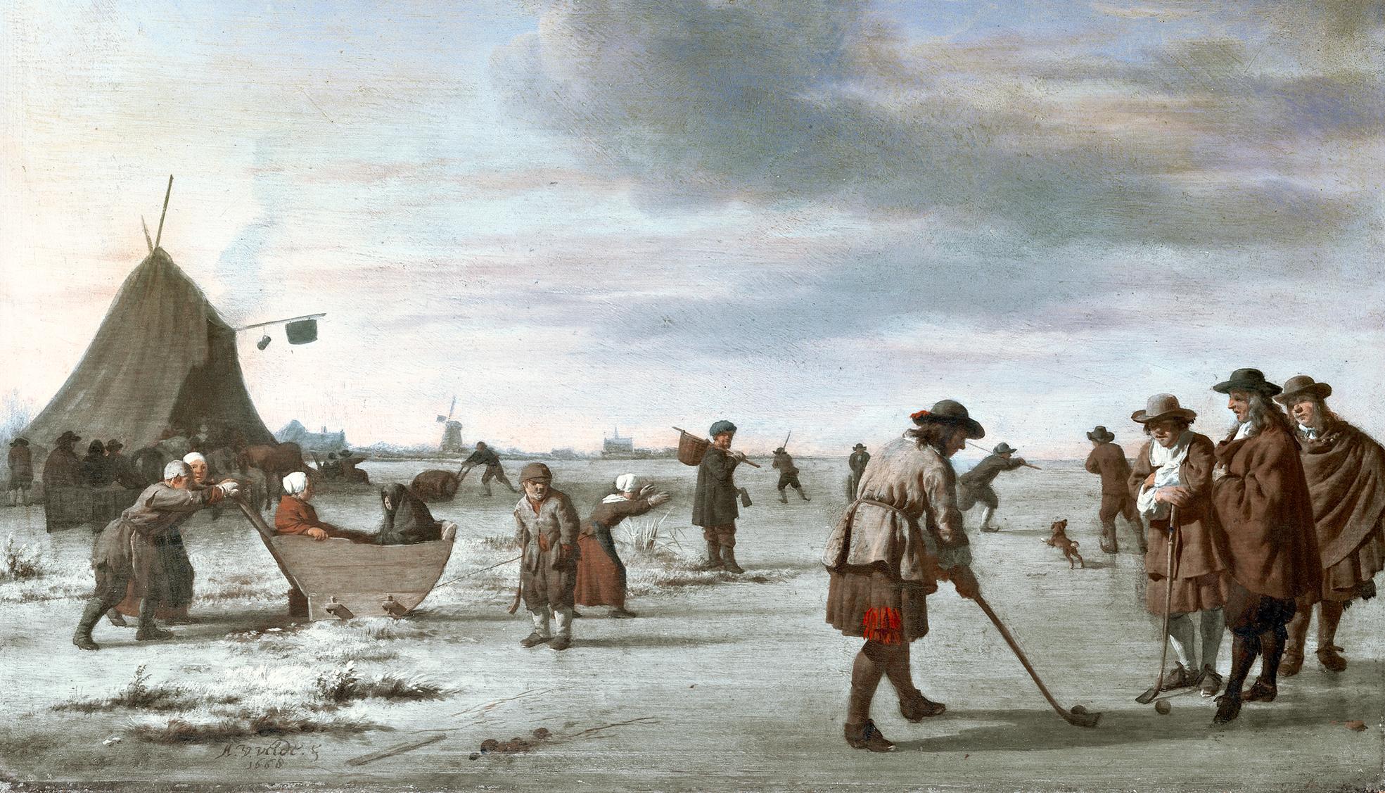 boekje golf binnenwerk op het ijs