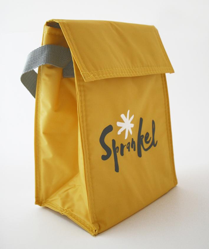 Lunchtasje met Sprankel-logo