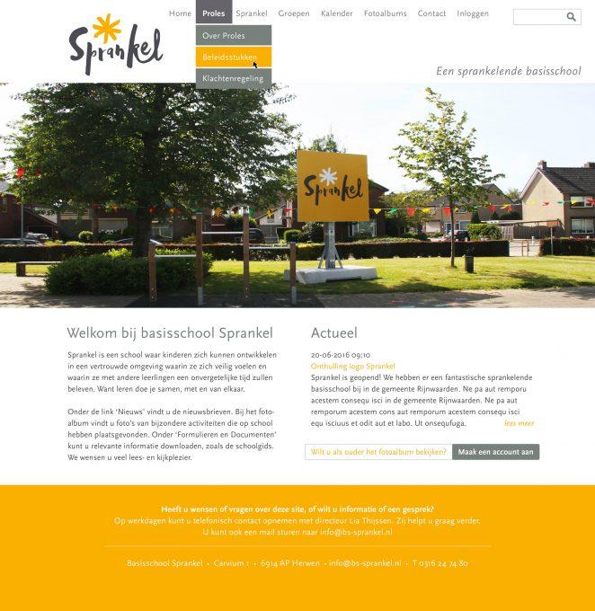 Sprankel homepage