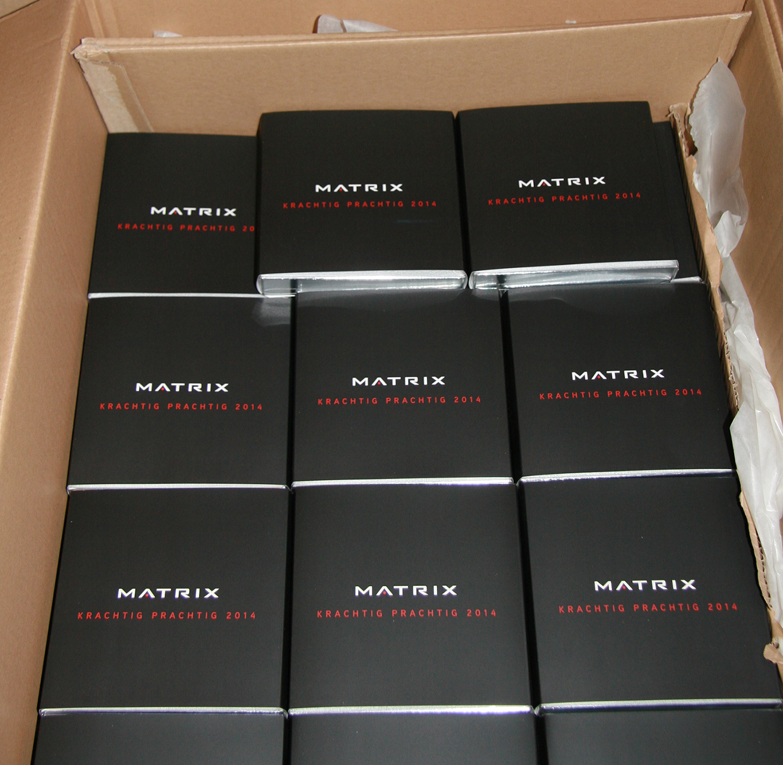 Matrix bonbons verpakkingen in de doos