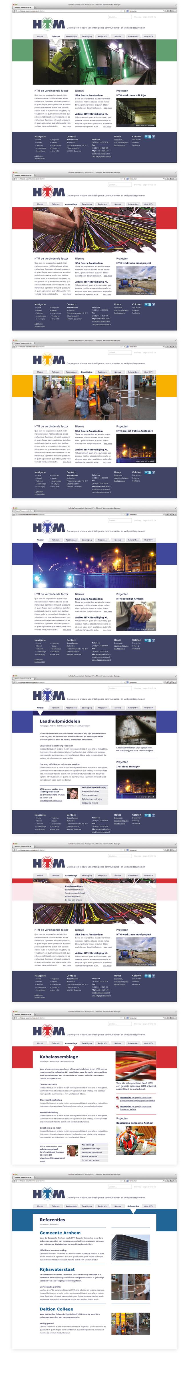 Ontwerp website HTM