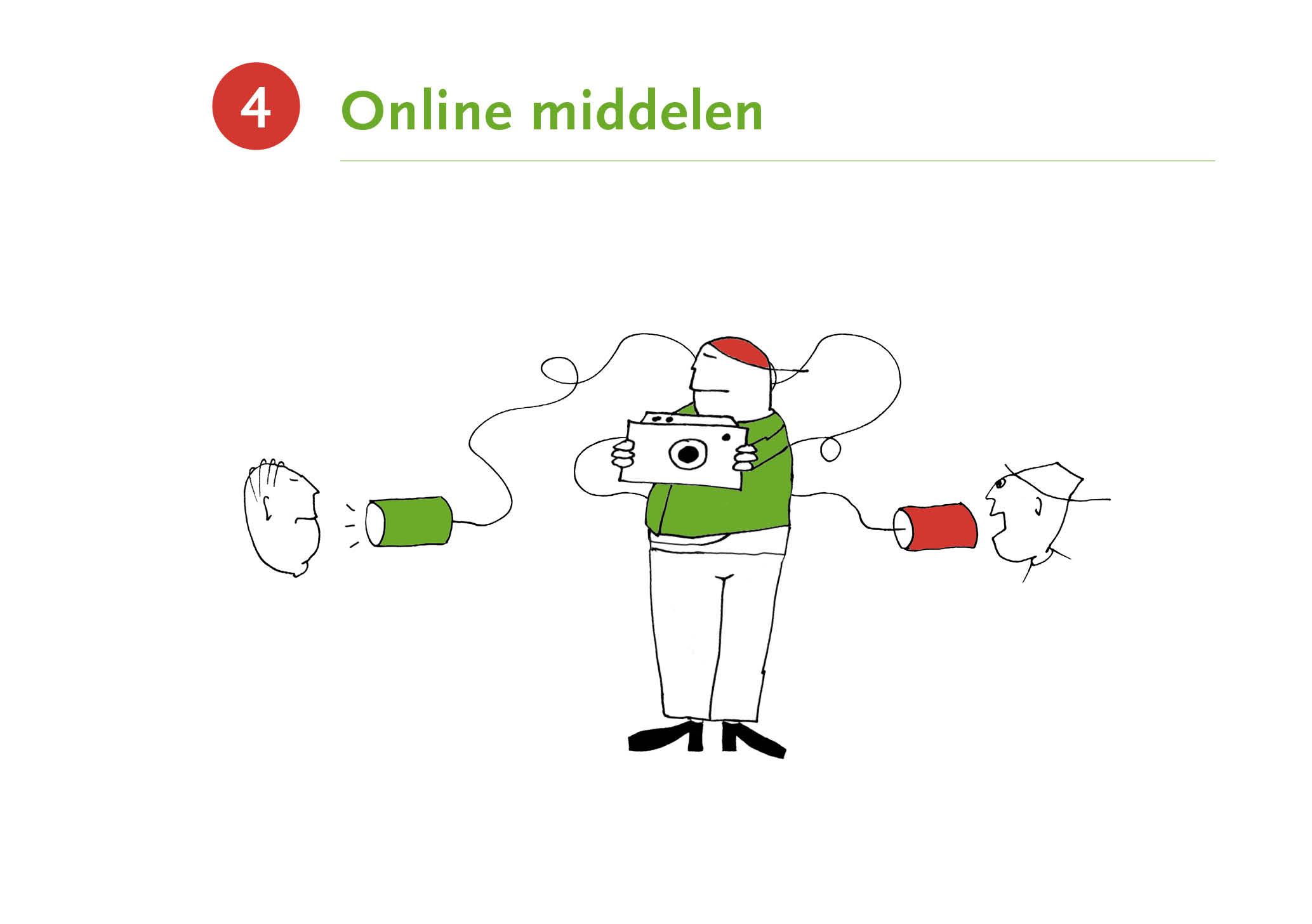 Illustratie met als titel 'Online middelen