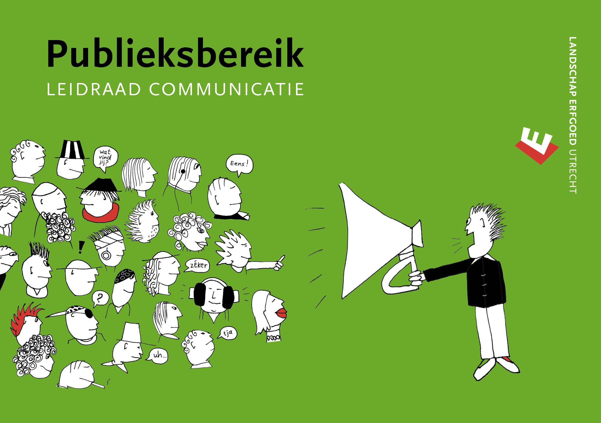 Omslagillustratie: een man schreeuwt door een megafoon zijn boodschap naar een menigte mensen die niet heel erg geïnteresseerd zijn …